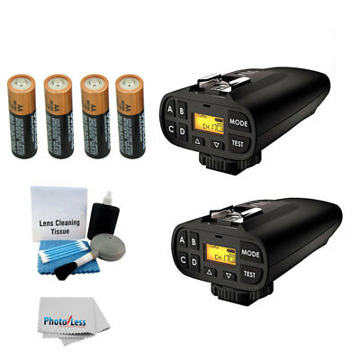 NEW 2 PocketWizard Plus IV Transceivers + 4 AA Bateries + 5 pc Clean Kit + Cloth