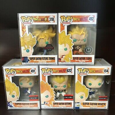 Funko Pop Dragon Ball : Super Saiyan Trunks, Goku, Vegito, Gotenks, Vegeta 1x