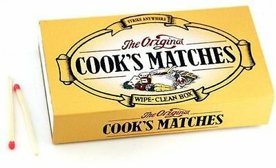 12 Boxes In A Pack Of Original Cooks Strike Anywhere Matches New Sealed