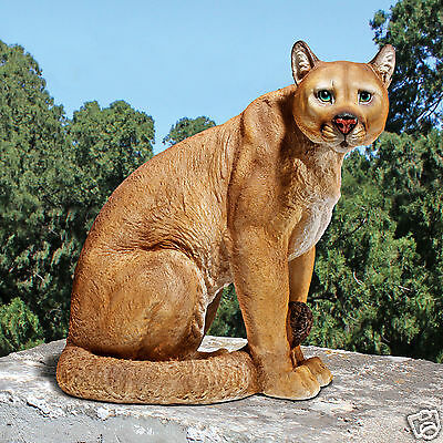 Exotic Wild Cat Predatory Cougar Statue Wildlife Puma, Panther, Catamount