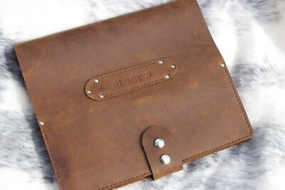 Personalised LOG BOOK COVER- LEATHER -WATERPROOF CRAZY HORSE LEATHER handmade