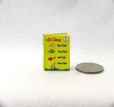 ONE (1) FISH TWO (2) FISH RED FISH BLUE FISH Dollhouse Book 1:12 Scale Dr. Seuss