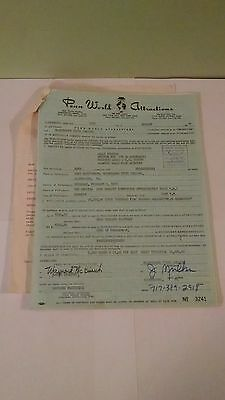 Lot of 2 Authentic Billy Preston 1974 Music Concert Contracts & Riders