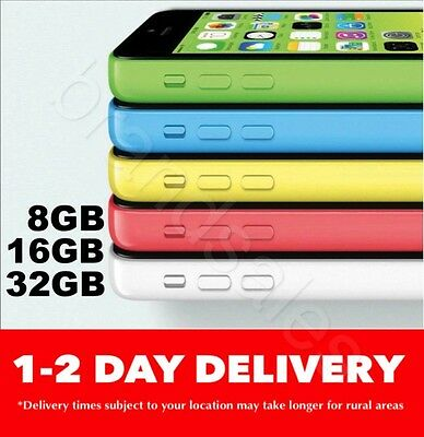 Apple iPhone 5c 8GB 16GB 32GB 4G 5 COLORS 100% Unlocked SHIPS FROM MELBOURNE MR