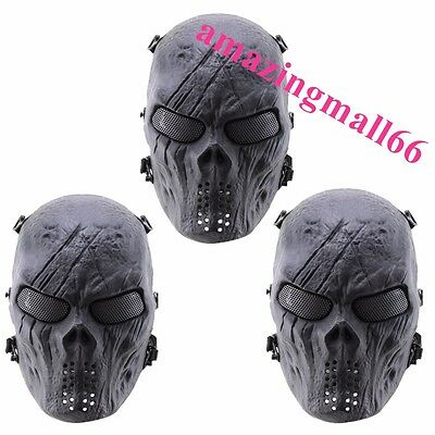 Protection Mask of New Skull Skeleton Full Face for Army Tactical  Paintball