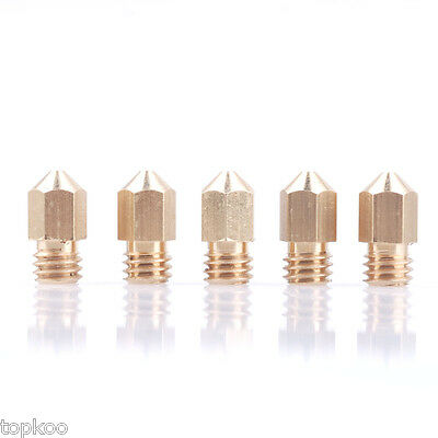 5PCS 3D Printer 0.4mm Extruder Brass Nozzle Print Head for MK8 1.75mm ABS PLA