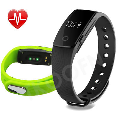 Bluetooth 4.0 Smart Wristband Fitness Sport Tracker with HeartRate Monitor 107HR
