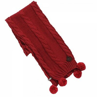 NEW Regatta Womens Cosey Scarf Dark Cerise Red Cable Knit