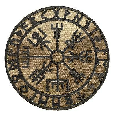 vegvisir viking compass a-tacs AU arid embroidered morale sew iron on patch