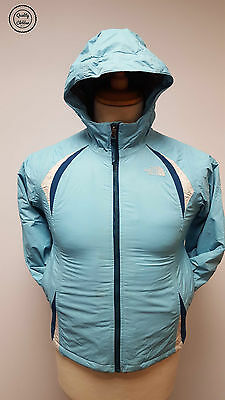 #444 The North Face Girls Blue Padded Hyvent Winter Ski Jacket, M (10/12)