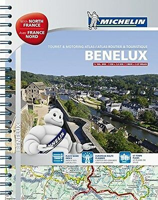 Benelux and North of France - A4 Spiral Atlas (English & German)