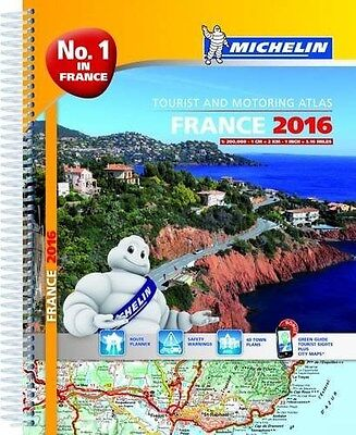 France 2016 Tourist and Motoring Atlas - A4-Spiral