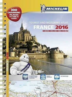 France 2016 Tourist and Motoring Atlas - A3 Spiral - English & French