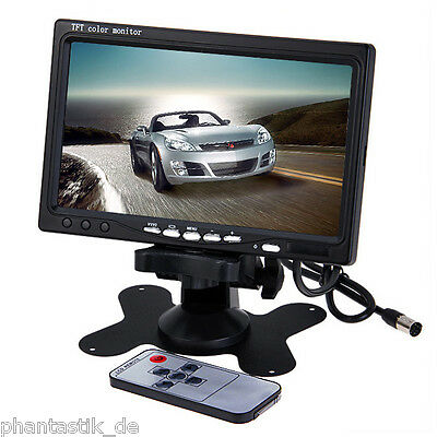 "7"" TFT Color LCD Car Rear View Headrest Monitor DVD VCR Monitor 2 Video Input"