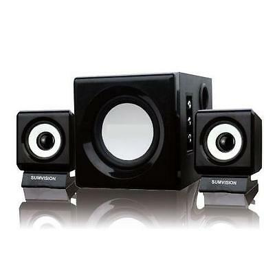 QUALITY 2.1 STEREO SPEAKERS WITH DEEP BASS SUB for LAPTOP PC COMPUTER SYSTEM NEW