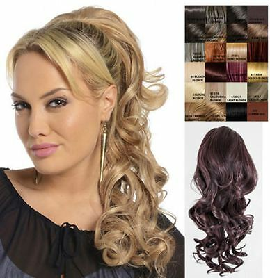 Womens Clip In Drawstring Long Curly Ponytail Hair Piece Volume 1589B Blossom