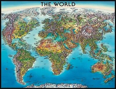 Puzzle Ravensburger 2000 Pz World Map 98X75 Cm Art 16683