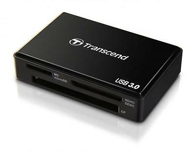 Transcend USB3.0 Super-Speed Multi Card Reader RDF8 Black