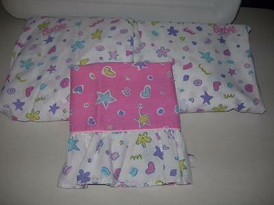 1991 Barbie Just for Girls Twin Sheet Set Fitted, Flat & Pillow Case