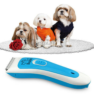Electric Rechargeable Pet Hair Trimmer Shaver Razor Dog Cat Fur Grooming Clipper