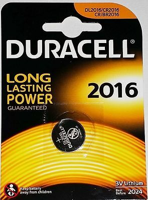 2 x Duracell CR2016 3V Lithum Coin Cell Batteries Expiry 2024 Original Genuine