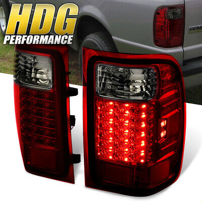 2001-2011 Ford Ranger Replacement Red Smoke Lens Led Tail Lights Pair Lamps