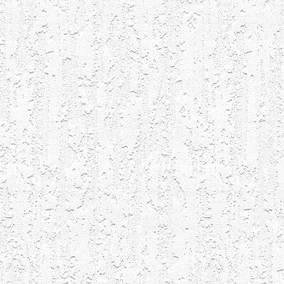 Waterfall Raised White Textured Paintable Wallpaper 48910