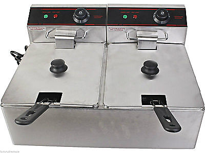 Heavy Duty Deep Fryer 5000W Electric Dual Counter Top Commercial Restaurant NEW