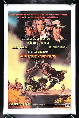 ONCE UPON A TIME IN THE WEST CineMasterpieces ORIGINAL MOVIE POSTER WESTERN 1969