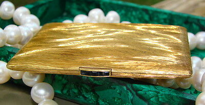 Cartier 18kt Yellow Gold & Sapphire Vintage Compact, London, MINT CONDITION!