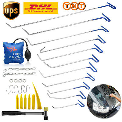 29pc PDR Push Rod Puller Tools Car Body Paintless Dent Repair Kits Ding Hail Set