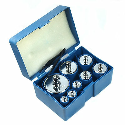 8 pcs calibration weight set 10g 20g 50g 100g 200g 500g -- 1000g total weight