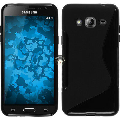 Black S Line Gel TPU Silicone Case Cover Skin For Samsung Galaxy J3 (2016) J320F