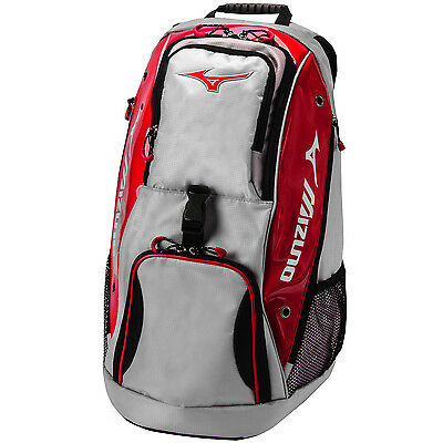 Mizuno Tornado Volleyball Backpack - Silver/Red