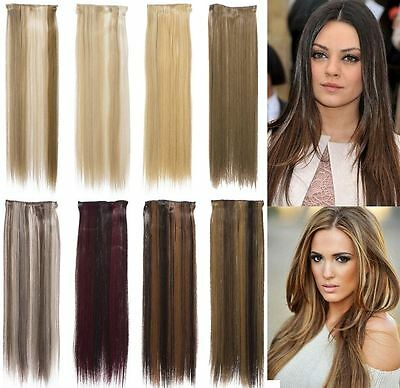"One Piece Straight Clip In 22"" Streak/highlight Hair Extensions Koko Uk K002"