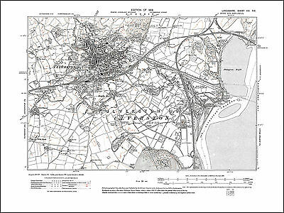 north Lancashire in 1919: 21NE repro Old map of Barrow in Furness