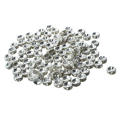 100 X Findings Silver Tone Metal Spacers Caps Beads 6mm HOT WD