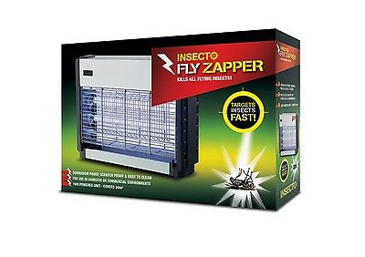 Commercial Electric fly zapper 50m2 Insectocutor 2 uv tubes flies, moths, wasp