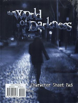 The Word of Darkness-Character Sheet Pad for WEREWOLF & VAMPIRE and other-new