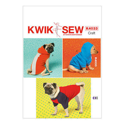 NEW | Kwik Sew Sewing Pattern | K4033 | Dog Coats | All Sizes In One Envelope