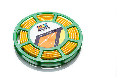 Partex POK10 Cable Marker, Black Marking on Yellow Cable Marker, Disc of 500