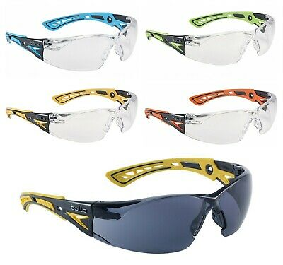 Bolle RUSH+ Plus Safety Glasses / Eye Protection - Various Lens Colours