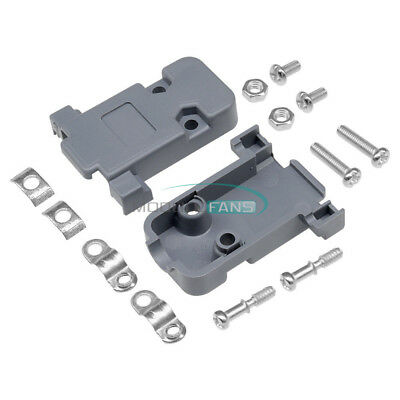 5PCS Grey D-Sub DB9 9Pin Plastic Hood Cover for 9 Pin or 15 Pin D-Sub Connector