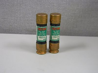New Lot Of 2 Fusetron Frn-R-50 Dual Element Time Delay Fuses