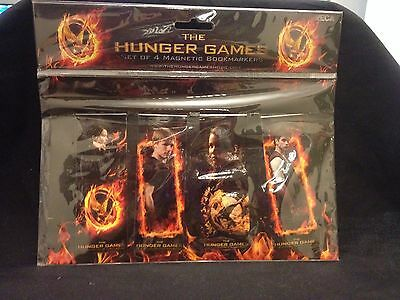 Hunger Games Set of 4 Magnatic Bookmarkers from the First Hunger Games