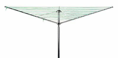 3 Arm 26M Rotary Laundry Washing Airer Outdoor Airier Clothes Drying Line New