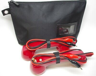 Loop Check Cable Tracer Phone Set Electrical Continuity Test Phones ES001-Red