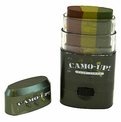 Camo-Up Face Paint, Military Hunting Halloween 3 Color Camouflage New