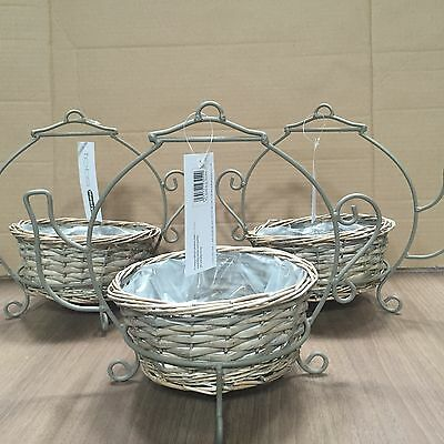 12 T Pot Planters Wicker Lined Basket Clearance Car Boot  Market Gift Stock