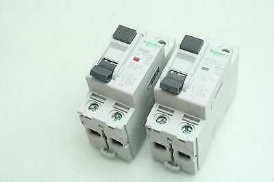 2 Schneider Electric 16204 Multi 9 RCCB 40A Circuit Breakers Two Pole